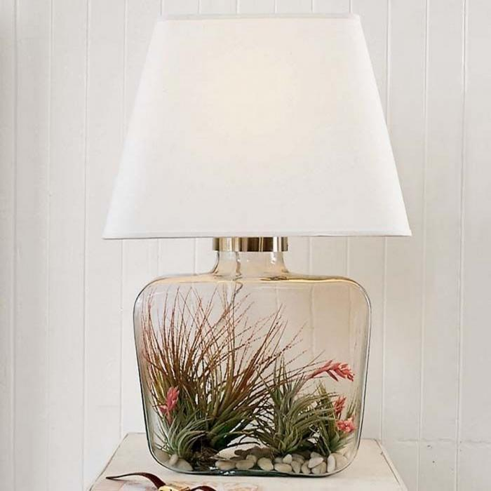 Personalised Atrium Glass Base Table Lamp