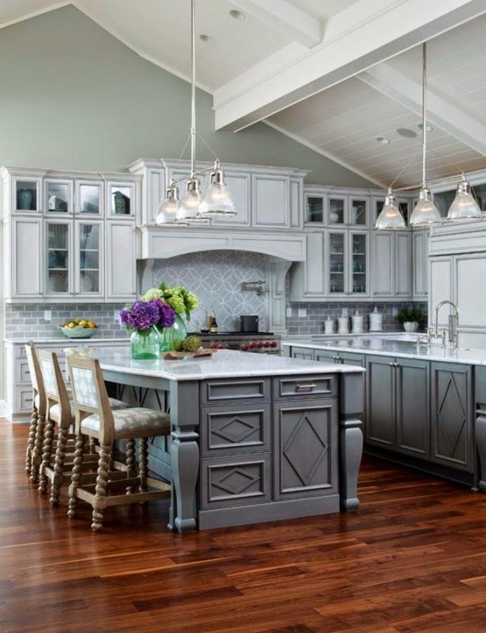 15 neutral gray kitchen design ideas to inspire rilane - Grey kitchen decorating ideas ...