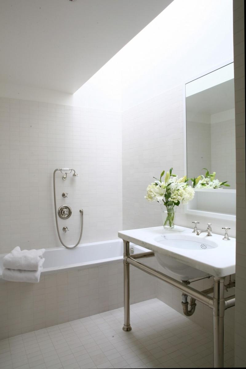 Awesomely Airy Bathroom Designs With Skylight Rilane   Skylight Design