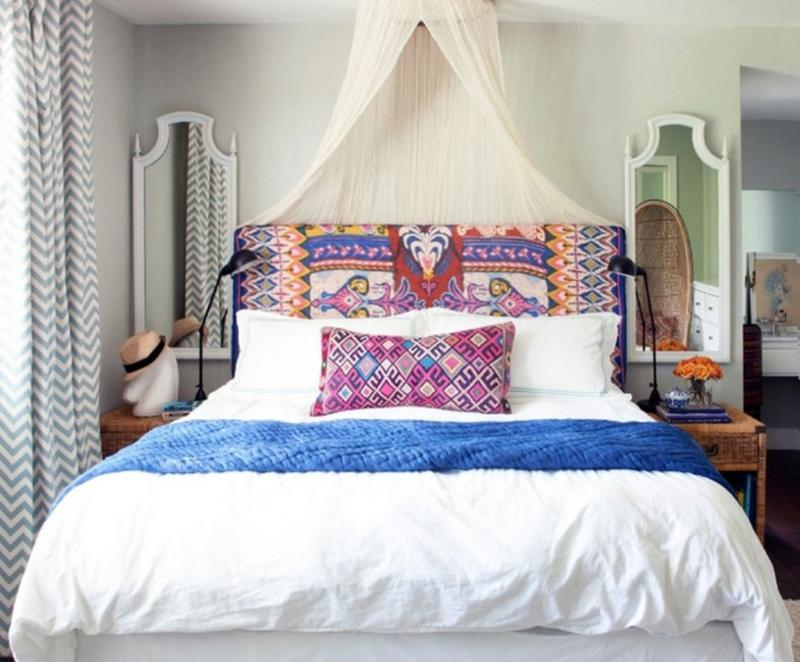 All White Boho Chic Bedroom
