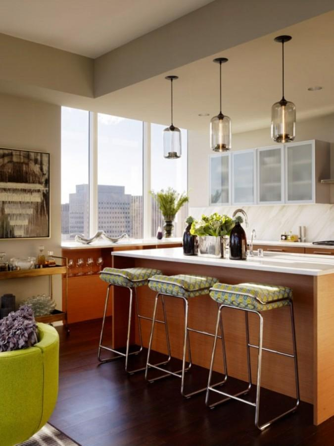 Kitchen Island Pendant Lighting: Amazing Glass Pendant Lamps over Kitchen Island,Lighting