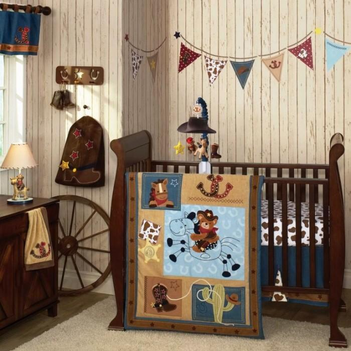 15 interesting cowboy themed kids bedroom rilane for Cowboy themed bedroom ideas