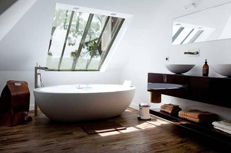 Attic Contemporary Minimalist Bathroom
