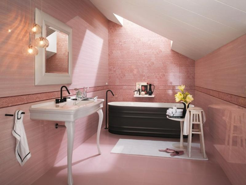 attic pink bathroom - Pink Bathroom Themes