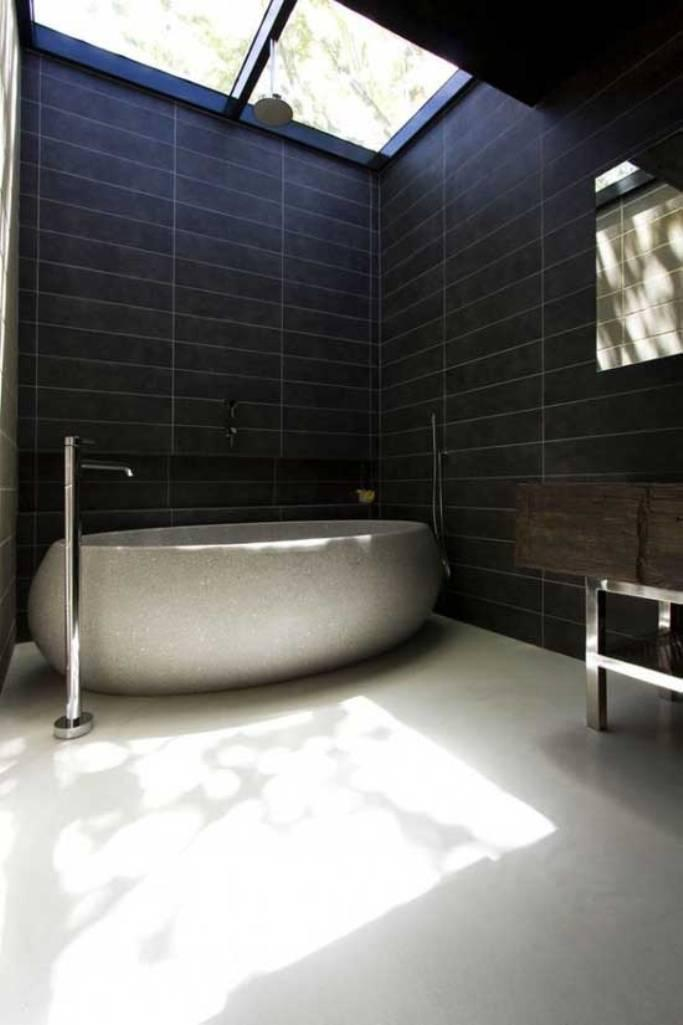 black contemporary minimalist bathroom - Minimal Bathroom Designs