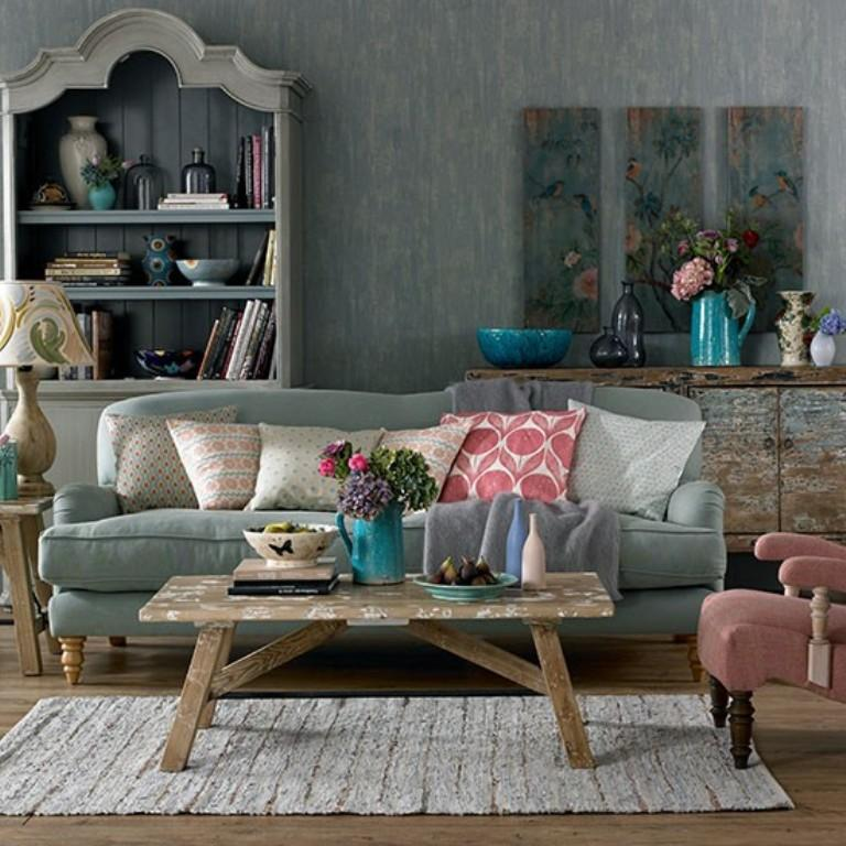 Boho Cozy Gray Living Room