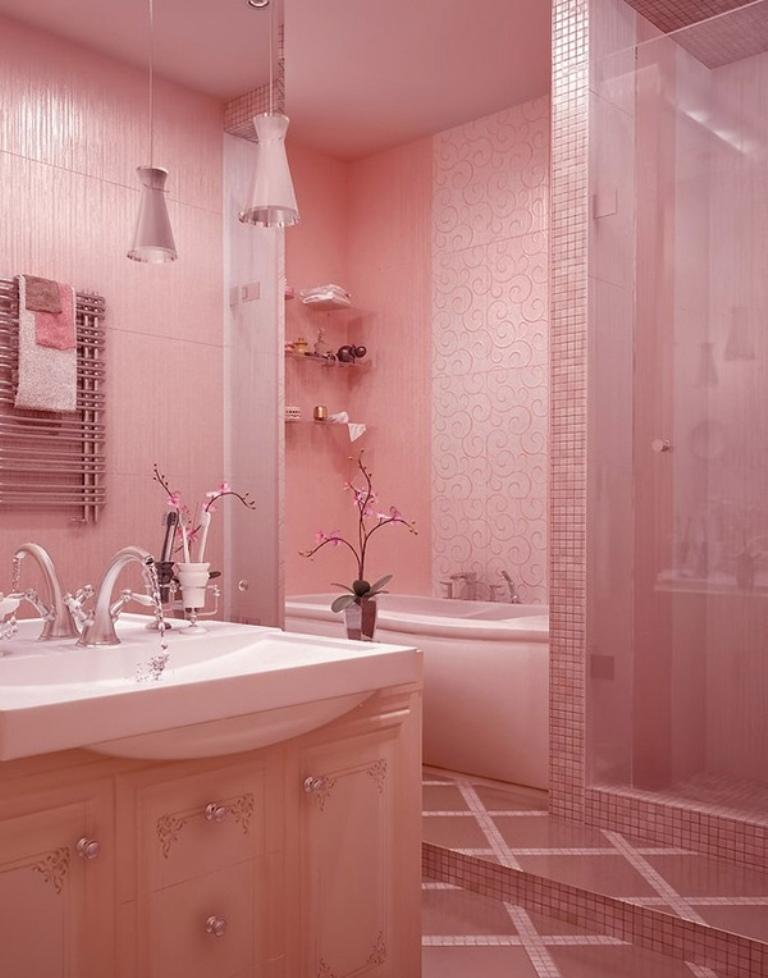Bold Pink Bathroom