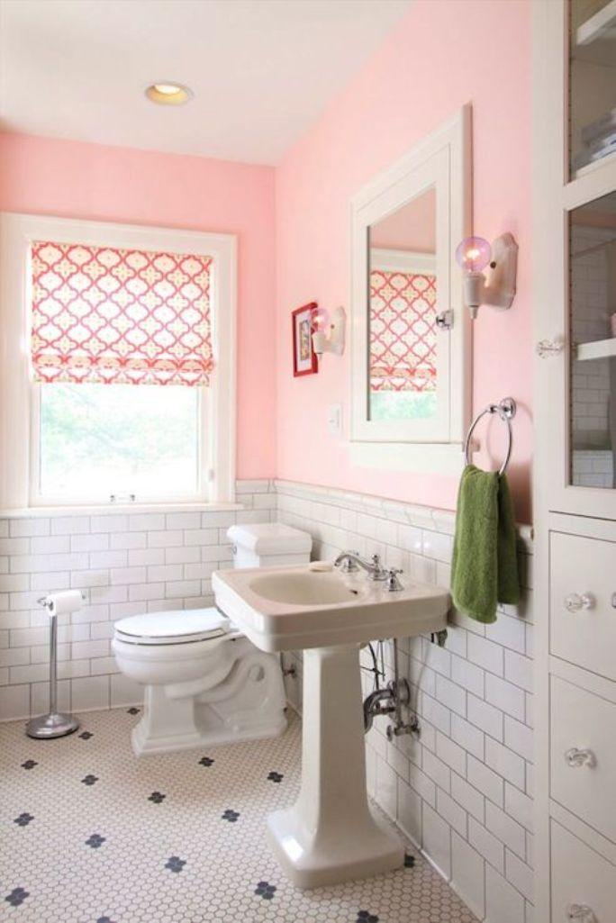 Charming Pink Bathroom