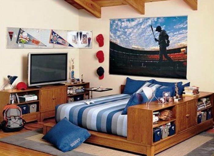 Charming Shared Baseball Fans For Boys Bedroom Ideas