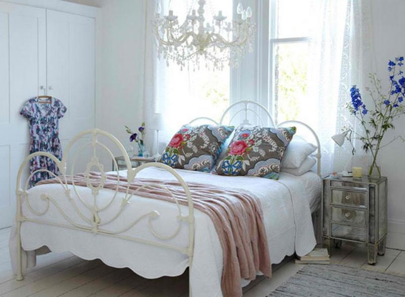 charming wrought iron white bed