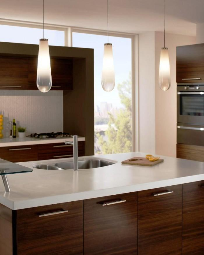 Amazing Kitchen Pendant Lights Over Kitchen Island Rilane - Glass kitchen island pendants