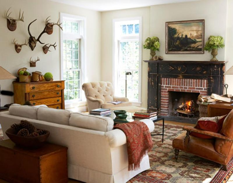 classy rustic living room - Design Ideas For Living Rooms With Fireplace