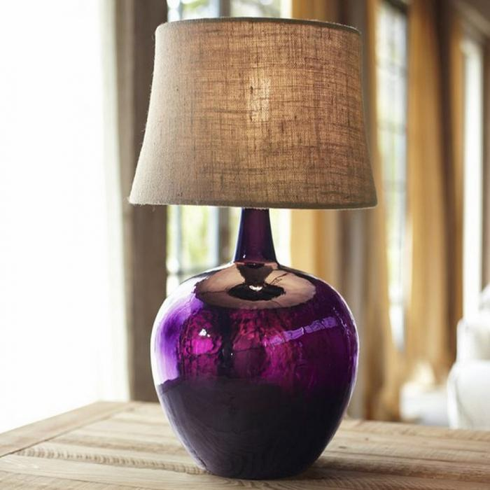 10 Alluring Glass Table Lamps To Embellish Your Living