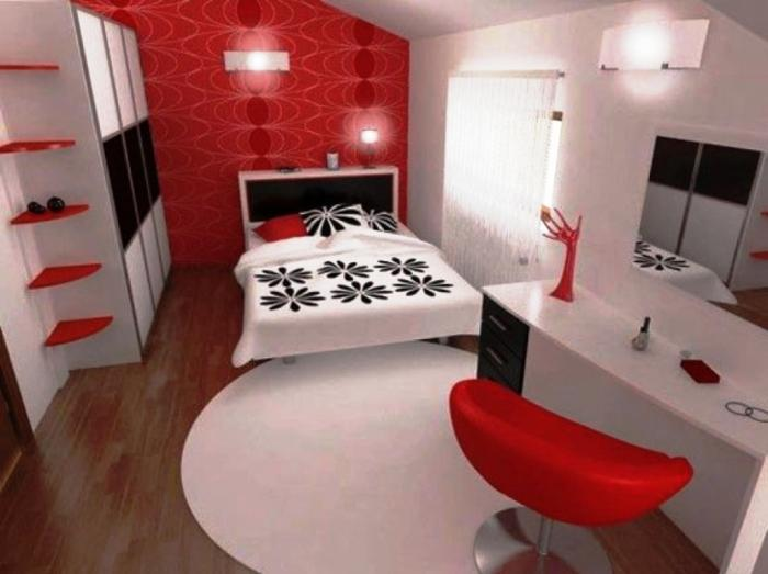 astonishing red white modern bedroom | 15 Amazing Red and White Kids Bedroom - Rilane