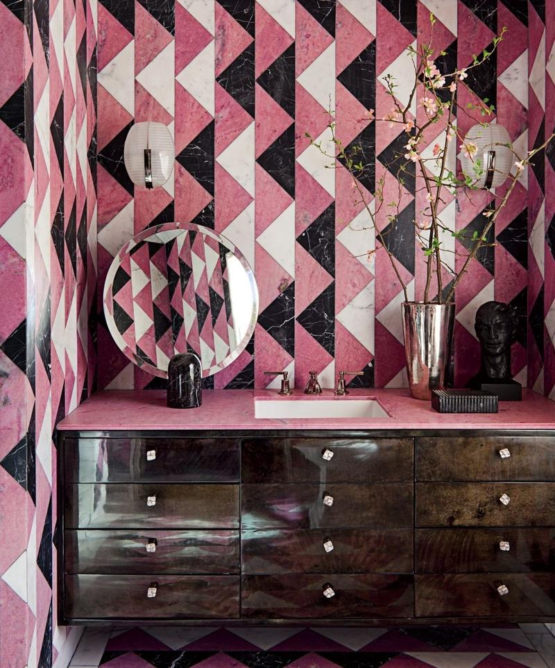 Interior Design Inspiration From Roger Davies Portfolio: 25 Astonishing Pink Bathroom Design Ideas