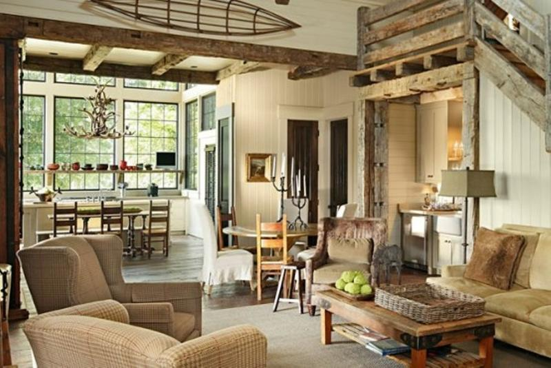 Nice Cottage Rustic Living Room Awesome Ideas