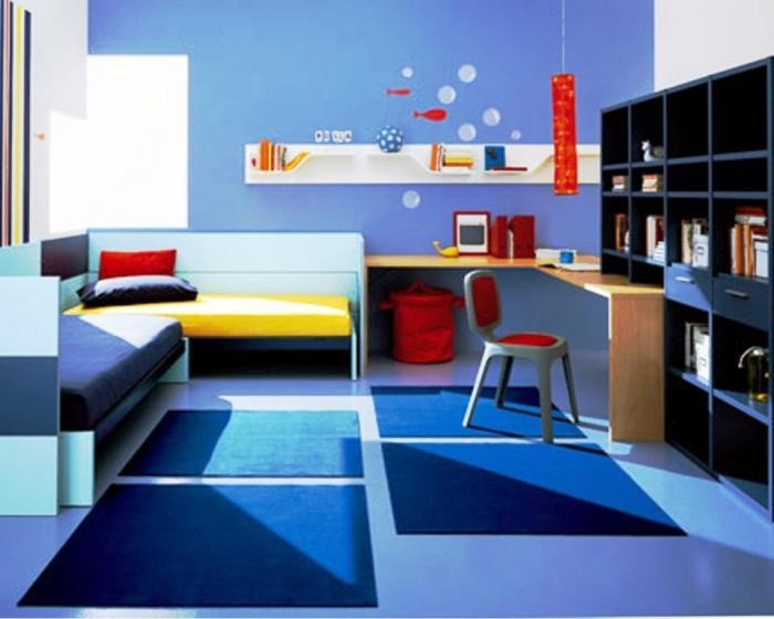 20 cool blue kids bedroom rilane for Cool blue bedroom ideas