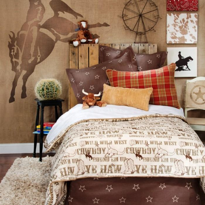 15 interesting cowboy themed kids bedroom rilane for Cowgirl themed bedroom ideas