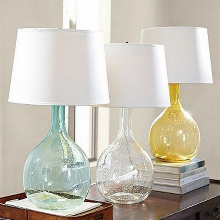 eva colored glass base table lamp