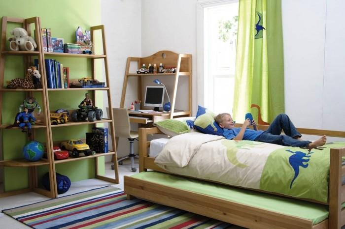 Green Bedroom For Boys 15 cool and charming green kid's bedroom - rilane