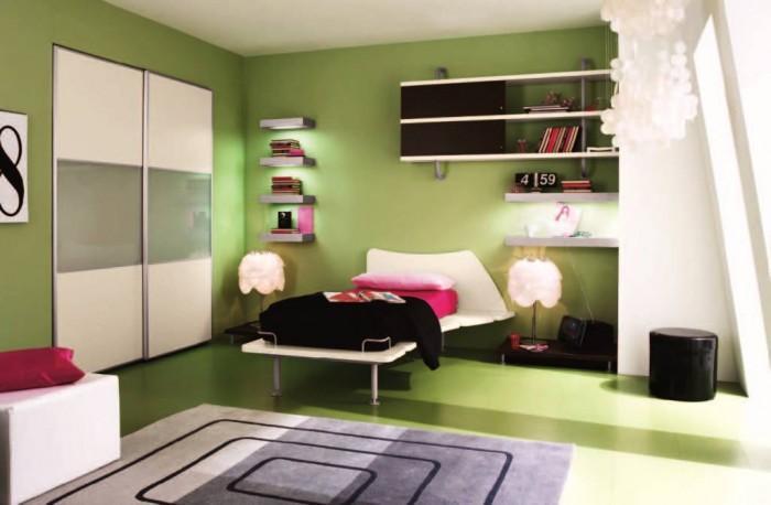 Fantastic Stunning Green Bedroom Interior Design Idea