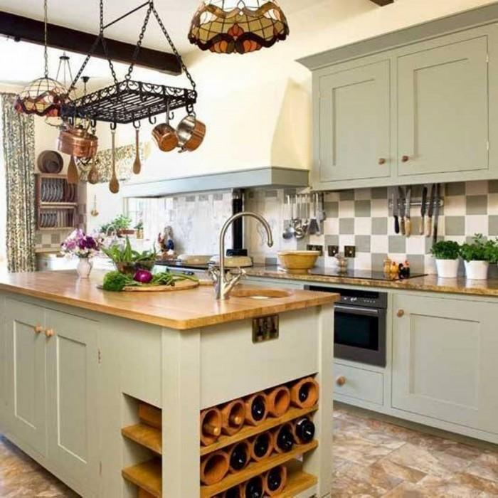 Pastel Farmhouse Kitchen Design