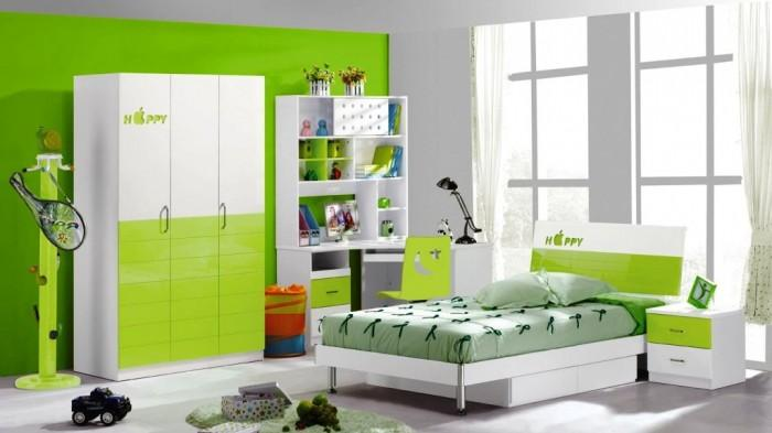 gorgeous light green bedroom design - Green Bedroom Design