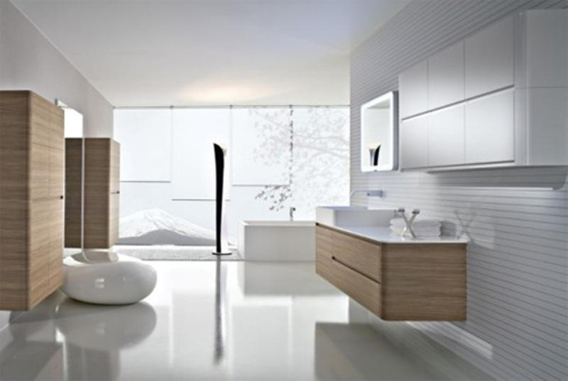 Gray Minimalist Bathroom