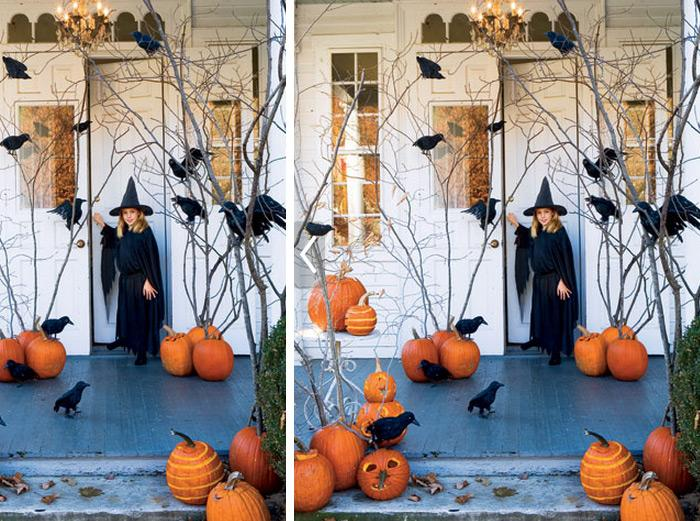halloween decorations 100 easy to make halloween decor rilane - Halloween Ideas Decorations