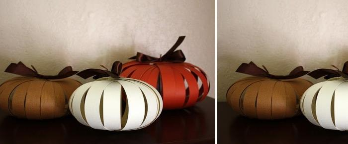 diy paper pumpkins to become cool autumn decorations how about making a bunch of paper pumpkin in cute design and bright colors check out this project and - Cute Halloween Decorations Homemade