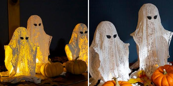 wispy ghosts u diy halloween decoration these super creative wispy ghosts will surely look spooky and