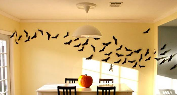 halloween decorations 100 easy to make halloween decor rilane - Halloween Bat Decorations