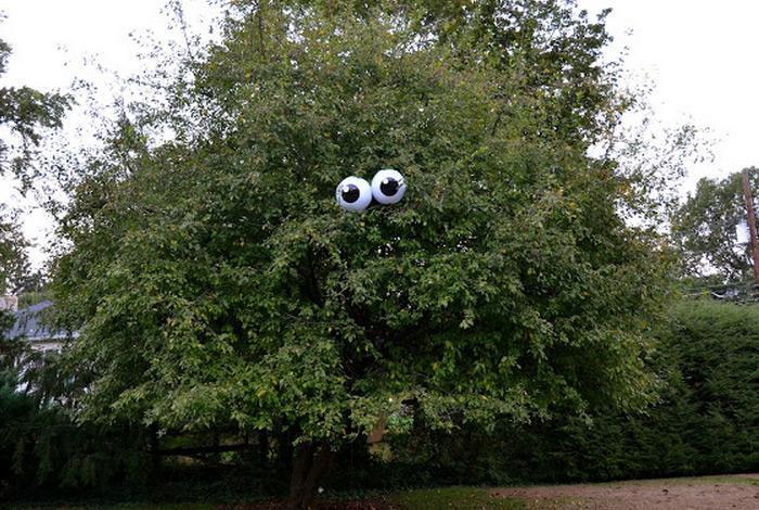 Halloween decorations 100 easy to make halloween decor rilane 5eyeballs in a tree this is so fun and creative right the best thing of all is that is super easy to do it yourself solutioingenieria Image collections