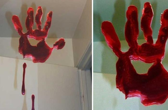halloween decorations 100 easy to make halloween decor - Bloody Halloween Decorations