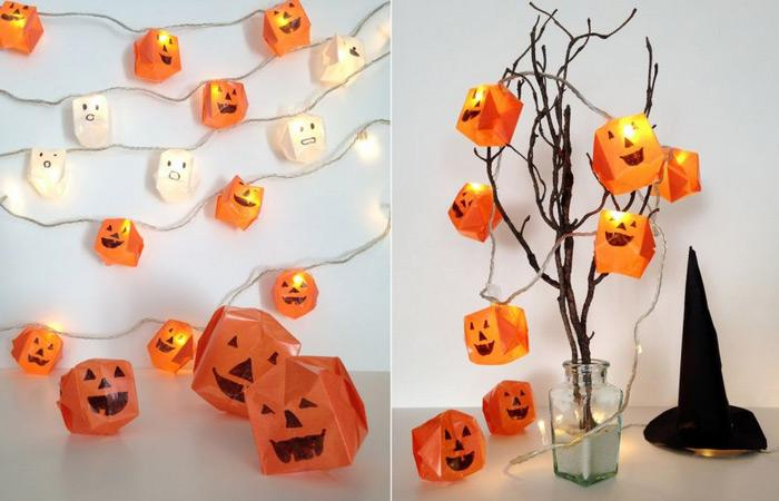 diy steps to prepare origami halloween lights if you are in crafty mood this halloween then we have a perfect project for you - Halloween Decor Diy