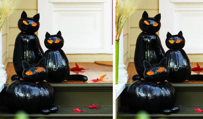 make black cat olanternscannot not notice these mysterious cats on somebodys front porch right steal all the attention by placing them in front of your - Halloween Cat Decorations