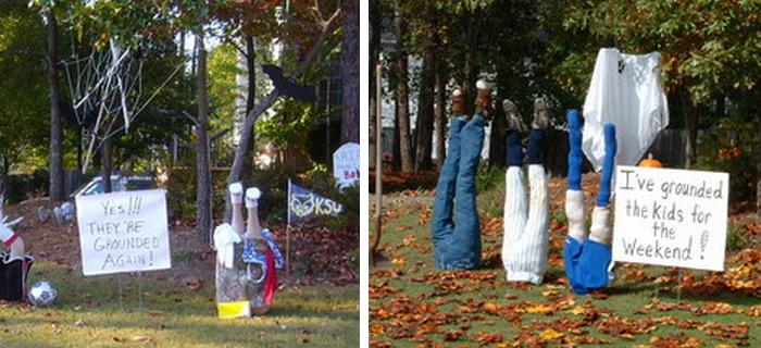 halloween decorations 100 easy to make halloween decor rilane - Cheap Halloween Yard Decorations