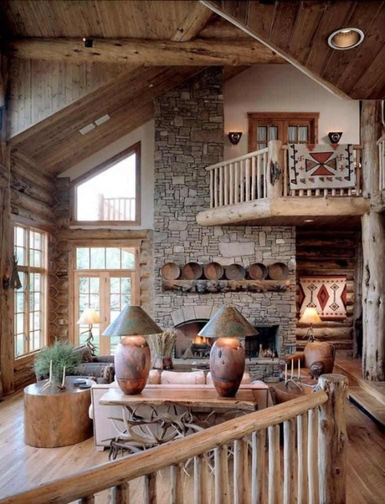 30 Rustic Chalet Interior Design Ideas: 30 Distressed Rustic Living Room Design Ideas To Inspire