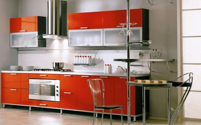 Inspiring Metallic Chair Italian Kitchen Design With Stainless Steel Range  Hood Part 63