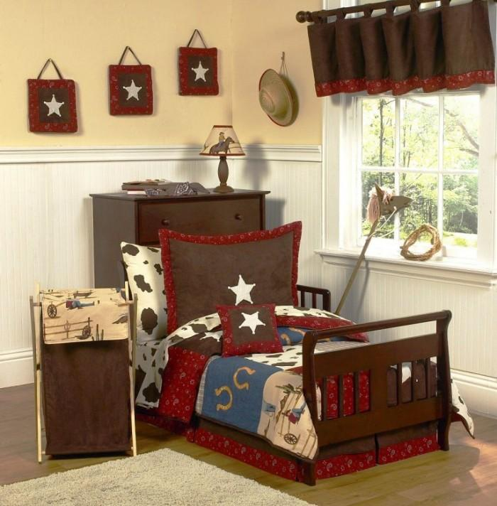 30 Creative And Trendy Shabby Chic Kids Rooms: 15 Interesting Cowboy Themed Kids Bedroom