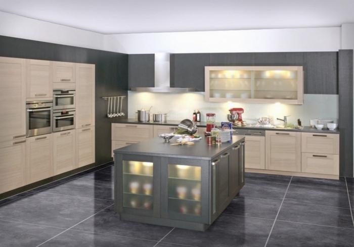 Grey Kitchen Design Ideas Part - 25: Dazzling Gray Kitchen Design