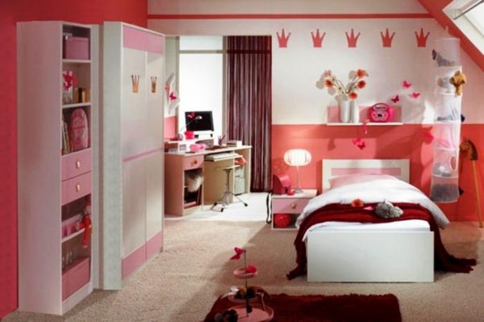 Mesmerizing Red White And Pink Girls Bedroom Design Part 60