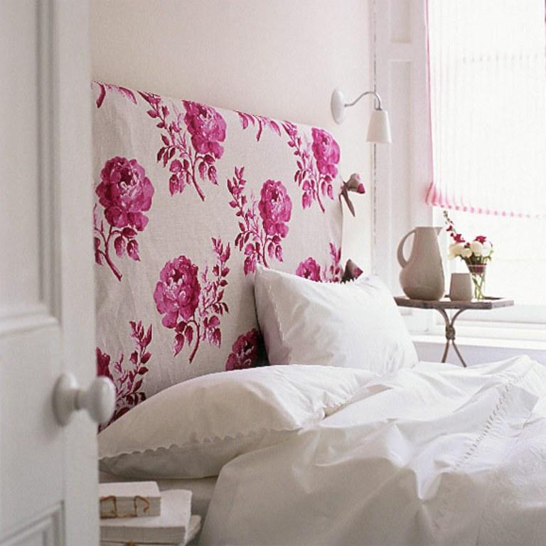 10 Charming Floral Headboard Design Ideas