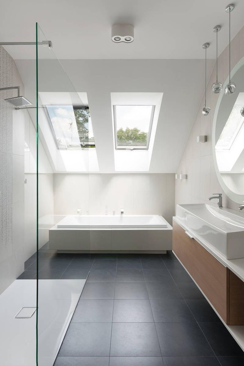 30 Awesomely Airy Bathroom Designs with Skylight Rilane – Skylight in Bathroom