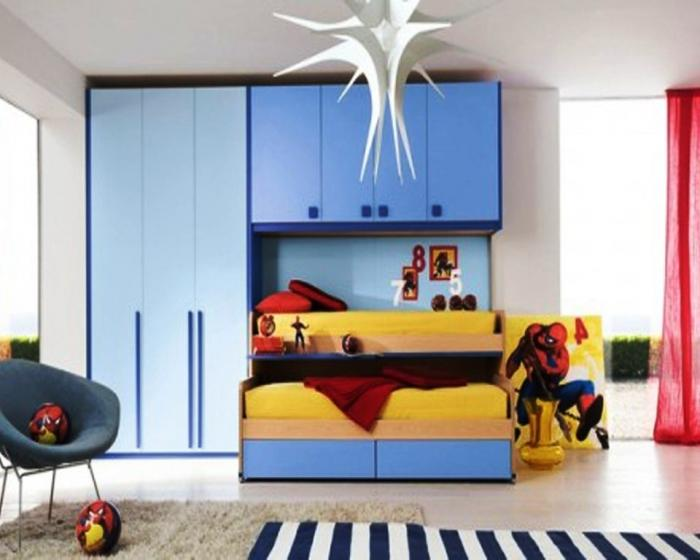 Nice Blue Kids Bedroom
