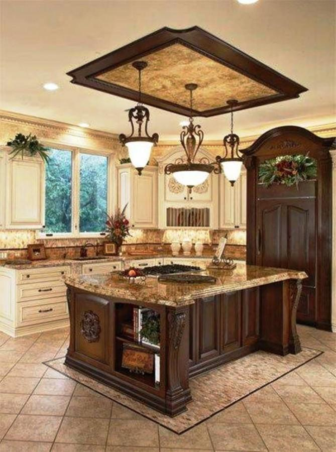 Old World Style Classic Kitchen Island Lighting