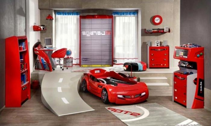 Red White And Blue Racing Kids Rooms For Boys