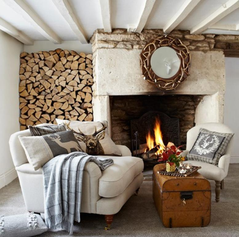 Rustic country decor for living room