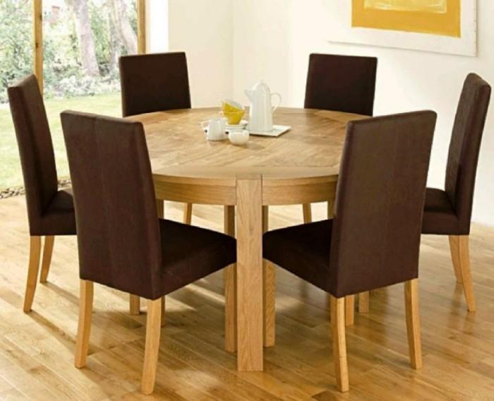 round dining room table images. rustic wooden round dining room table combined with brownish upholstered chairs images y