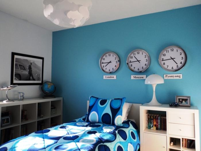 20 cool blue kids bedroom rilane for Boys room blue paint